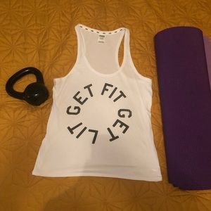 "VS PINK ""Get Fit Get Lit"" tank"